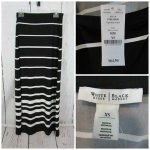 White House Black Market Maxi Skirt Size XS Black